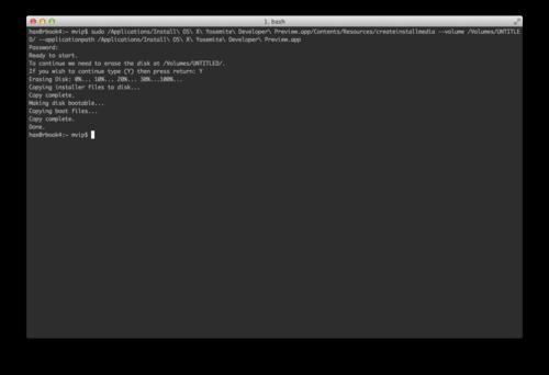 create a bootable usb drive mac yosemite